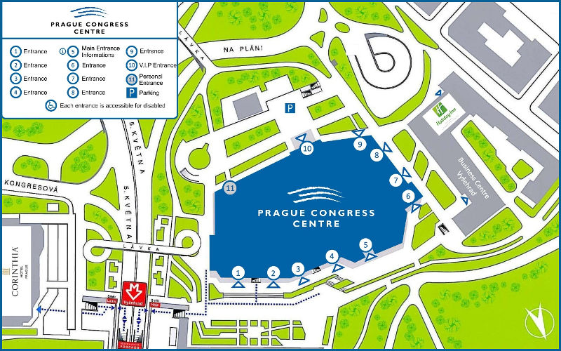 Prague Congress Centre entrances